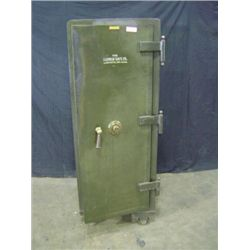 "SCHWAB YALE SAFE, 61"" X 23 1/4"" X 24"", GREEN, 1 DOOR, WEIGHT 922 POUNDS"