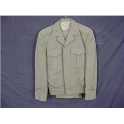USMC SERVICE C DRESS UNIFORM FULL SUIT PANT, COAT, GREEN