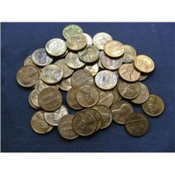1972 LINCOLN HEAD PENNIES (50) MIXED MINT