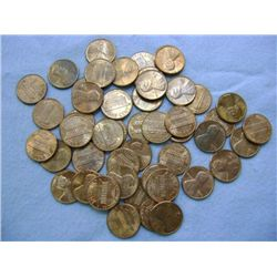 1975 LINCOLN HEAD PENNIES (50) - MIXED MINT