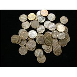 1976 LINCOLN HEAD PENNIES (50) - MIXED MINT