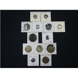 LOT OF 13 ANCIENT FOREIGN COINS