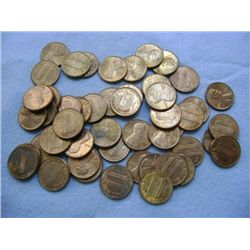 1980 LINCOLN HEAD PENNIES (50) - MIXED MINT