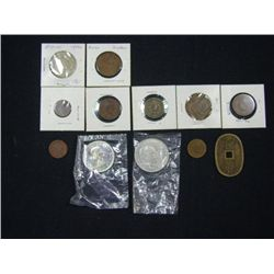 LOT OF 12 FOREIGN COINS