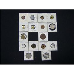 LOT OF 16 FOREIGN COINS