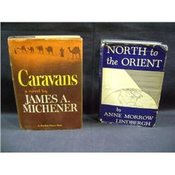 """""""CARAVANS"""" BY JAMES A MICHENER, """"NORTH TO THE ORIENT"""" BY ANNE MORROW LINDBERGH"""