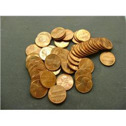 1977 LINCOLN HEAD PENNIES (50) - MIXED MINT