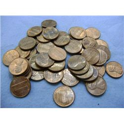1978 LINCOLN HEAD PENNIES (50) - MIXED MINT