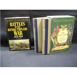 """BATTLES OF THE REVOLUTIONARY WAR"" W J WOOD CR-1990, ""THE CIVIL WAR"" GROSSET AND DUNLAP"