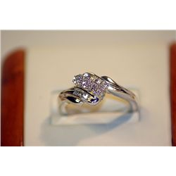 Lady's Vey Fancy Sterling Silver Diamond Ring
