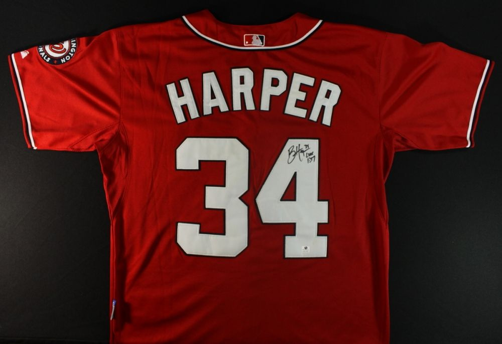 ... new zealand image 1 bryce harper signed nationals jersey ga coa 791a2  13b1e ... 68a4413af