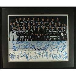 1992-93 Los Angeles Kings Team Signed Photo With Wayne Gretzky (PA LOA)