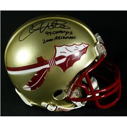 Bobby Bowden & Chris Weinke Signed Florida State Mini-Helmet: Inscribed (GA COA)