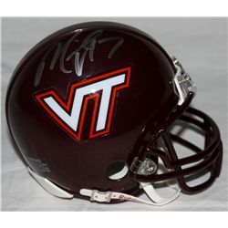 Michael Vick Signed Virginia Tech Mini-Helmet (GA COA)
