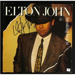 "Elton John Signed LP Record: ""Breaking Hearts"" (GA COA)"