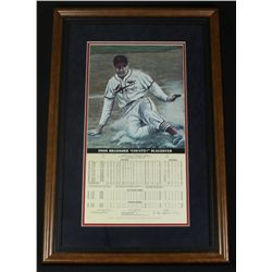 Enos Slaughter Signed Cardinals 18x27 Custom Framed Lithograph (PSA LOA)