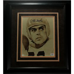 Otto Graham Signed Browns 15x17 Custom Framed Photo (PSA COA)