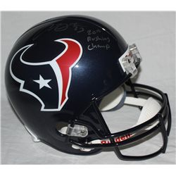 "Arian Foster Signed Full-Size Texans Helmet Inscribed ""2010 Rushing Champ"" (JSA COA)"