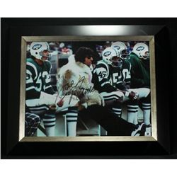 Joe Namath Signed Jets 17x14 Custom Framed Photo (GA LOA)