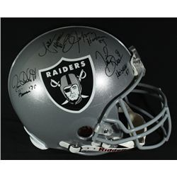 Bo Jackson, Tim Brown, Marcus Allen & Jim Plunkett Signed Full-Size Raiders Authentic Helmet (Holos)