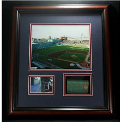 Boston Red Sox 18x20 Custom Framed Display With Piece From Fenway Park (PA LOA)