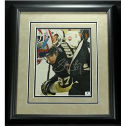 Sidney Crosby Signed Penguins 15x17 Custom Framed Photo (GA COA)