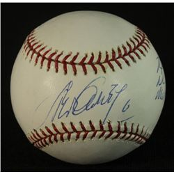 Steve Garvey Signed OML Baseball: Inscribed  74 NL MVP  (GA COA)