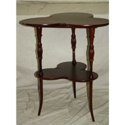 Clover Top Mahogany Lamp Table
