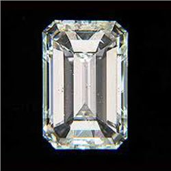 EGL Certified Diamond Emerald 0.91ctw D,SI1