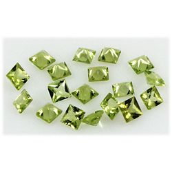 Peridot 5.76 ctw Loose Gemstone 4x4mm Princess Cut