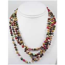 266.81ctw Freshwater Multi-Color Pearl Necklace