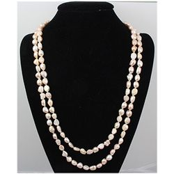 568.91 ctw Just Peachy Fresh Water Pearl Necklace