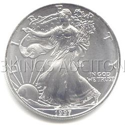 Uncirculated Silver Eagle 1997