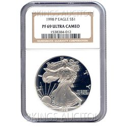 Certified Proof Silver Eagle PF69 1998