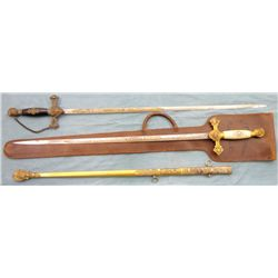 Pair of Fraternal Lodge Swords
