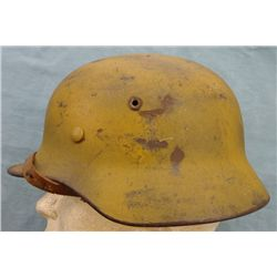 German WWII Africorp Camouflage Helmet