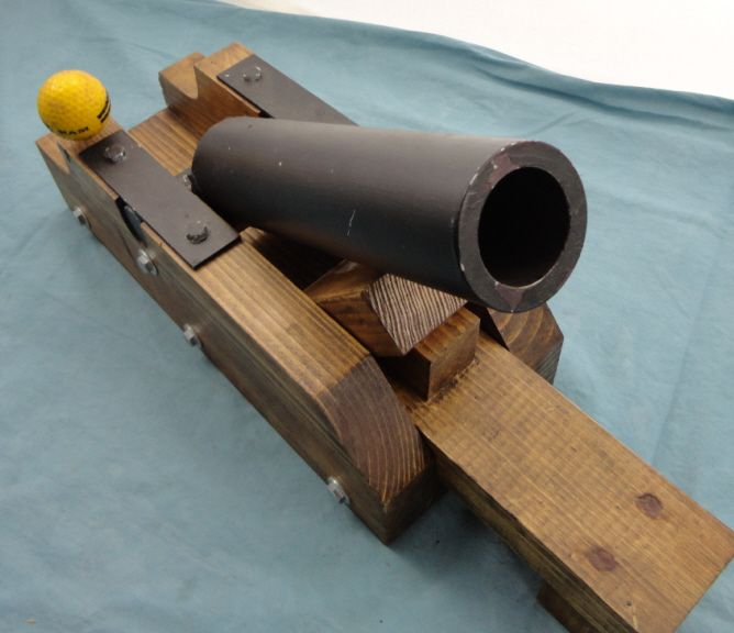 ball cannon. image 2 : homemade black powder golf ball cannon