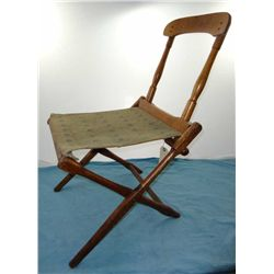 Civil War Style Folding Camp Chair