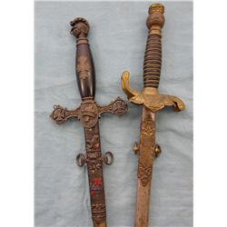 Pair of Lodge Swords & Scabbards