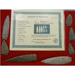 7 Large Stone Arrowheads (Cache Benton Spears)