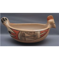 HOPI POTTERY EFFIGY BOWL