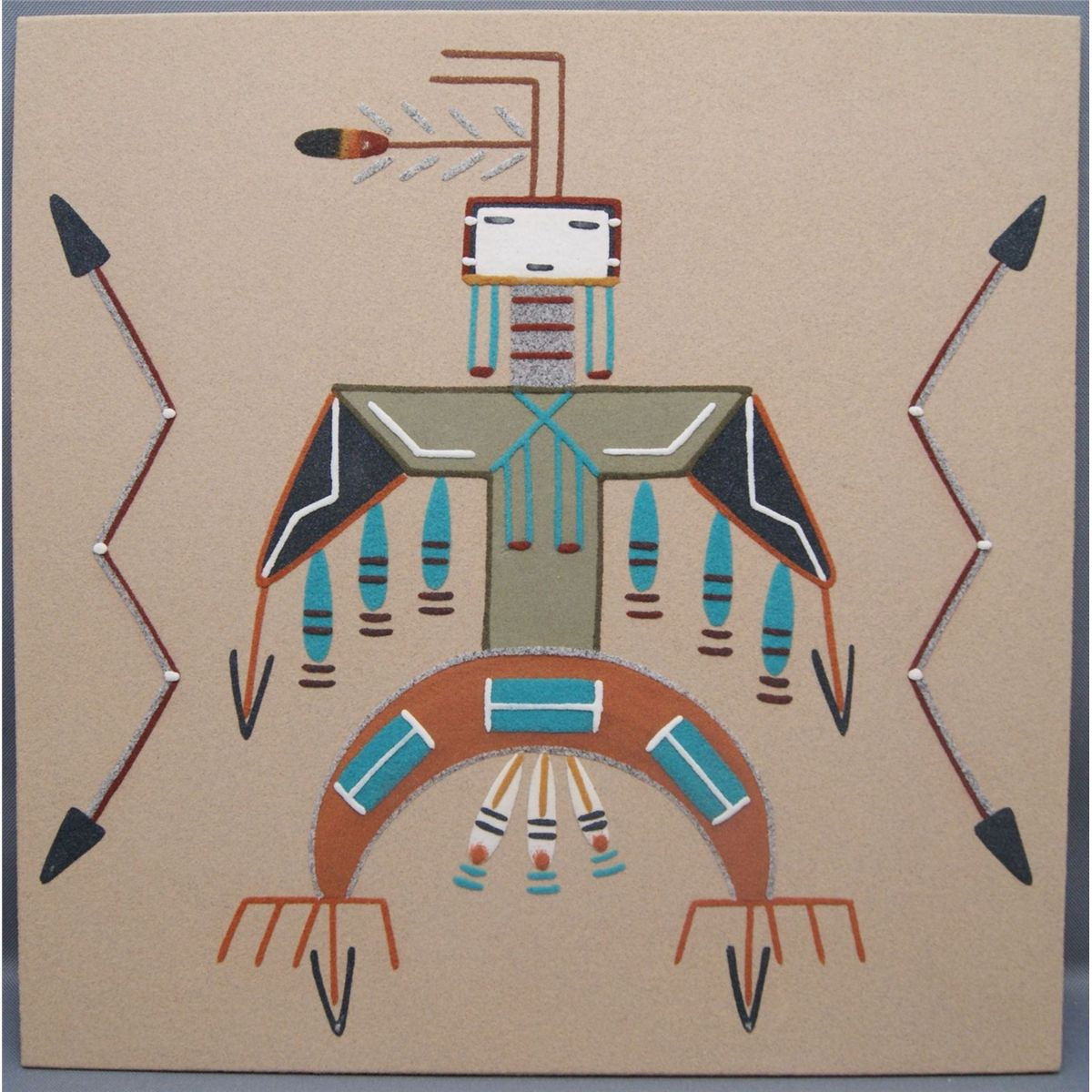 navajo sand paintings Sand painting: sand painting, type of art that exists in highly developed forms among the navajo and pueblo indians of the american southwest and in simpler forms among several plains and.