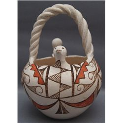 ACOMA POTTERY BASKET