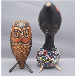 TWO MEXICAN GOURDS