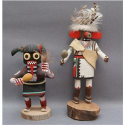 TWO NAVAJO KACHINAS