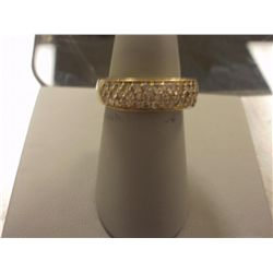 1 Carat Stunning Top Quality Parve Diamond Ladies Ring, 14K Gold