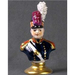 Limoges  Porcelain Soldier Figure .