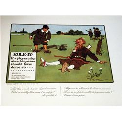 Perrier Golf Rule IV Lithograph Print