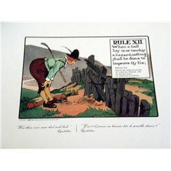 Perrier Golf Rule XII Lithograph Print