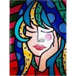 Jozza Original Pop Art Painting Girl Daydreams